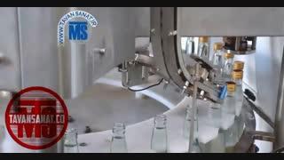 دستگاه پرکن و دربندی بطری شیشه با درب پلیفرپروف