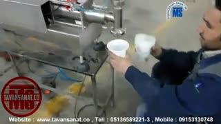 ویدئو دستگاه پرکن مایعات غلیظ (سمنو)