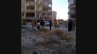 تخریب مسکن مهر در شهرستان سرپل ذهاب در پی زلزله