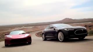 سریعترین خودرو جهان صفر تا صد 1/9 ثانیه (تسلا رودستر)