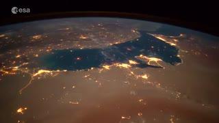 ویدئو دیدنی از زمین که پائلو نسپولی فضانورد ایتالیایی آن را به اشتراک گذاشته است
