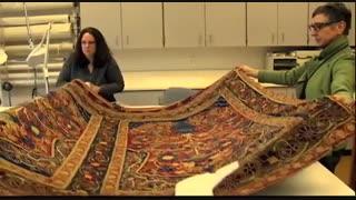 نمایش عمومی چادر مسافرتی شاه قاجار در کلیولند آمریکا