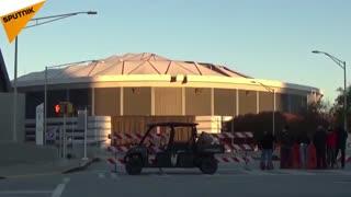 تخریب استادیوم بزرگ معروف به «گنبد جرجیا» در امریکا