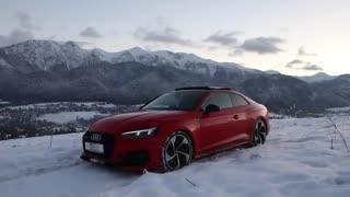 عملکرد خودرو Audi RS 5 در برف