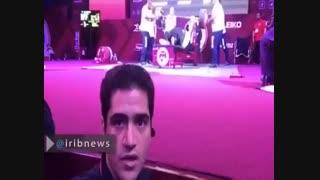 لحظه مهار وزنه ۲۸۵ کیلوگرمى توسط سیامند رحمان