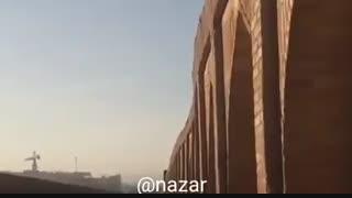 فیلمی از انحنای بدنه غربی سیوسه پل اصفهان