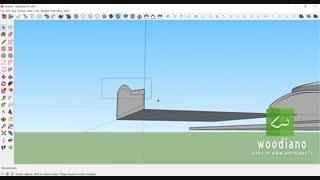 طراحی ترازو در اسکچاپ (مرور ابزار circle و push/pull)