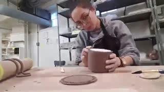 آموزش : ساخت ماگ دست ساز با استفاده از شن