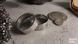 ساخت انگشتر با استفاده از سکه
