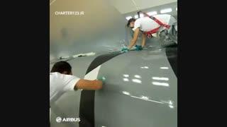 طراحی و رنگ آمیزی هواپیما ایرباس A350   چارتر123