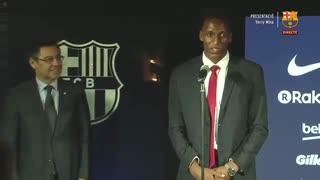 مراسم کامل معارفه یری مینا  بازیکن جدید بارسلونا