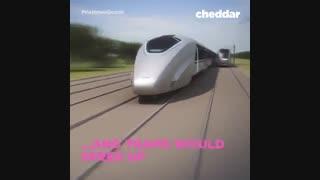 جابجایی مسافر میان دو قطار در حال حرکت