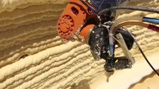 استفاده ربات از فوم برای پرینت 3 بعدی ساختمان