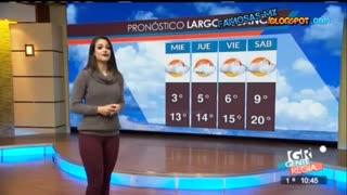 دختر زیبا روی اخبار هواشناسی کانال ماهواره برف آمدبارید