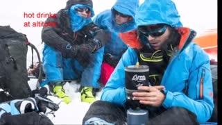 اجاق گاز کوهنوردی به همراه قابلمه  مسافرتی کووا - ریبوکا