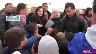 خانم سوپراستار در کمپ پناهجویان سوری