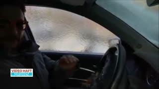 وقتی شیشه اتومبیل شیک یخ میزند