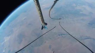 تصاویر واقعی گوپروی وصل شده به موشک فضاپیما
