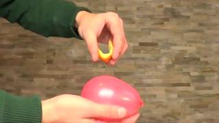 ترکوندن بادکنک با پوست پرتقال