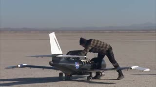 تست نمونه هواپیمای طراحی شده توسط ناسا