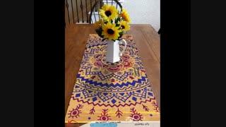 رانر رومیزی طرحی برای زیبایی دادن به چیدمان منزل !