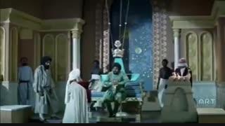 سکانسی زیبا از فیلم محمد رسول الله/صحبتهای خسرو پرویز در پاسخ به نامه پیامبر اسلام