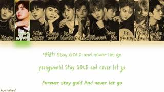 لیریک اولین آهنگ از  البوم جدید گروه Wanna One البوم I Promise you 0+1=1 .. اهنگ GOLD