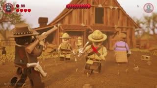 شبیه سازی بازی Red Dead Redemption در LEGO