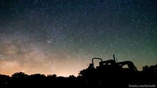 تایم لپس زیبا از ستارگان کهکشان راه شیری
