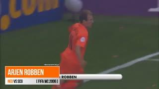گل آرین روبن به صربستان و مونته نگرو در جام جهانی 2006