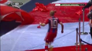 گل آرین روبن به دورتموند فینال جام حذفی آلمان 2014