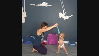 یه راهکار ساده و عالی برای کمک به راه رفتن کودک