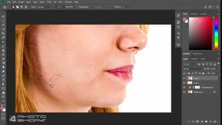 روتوش صورت در فتوشاپ آموزش فارسی