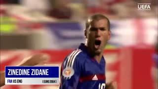 گل زین الدین زیدان به انگلیس در یورو 2004
