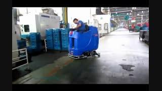 اسکرابر - شستشوی سطوح کف در کارخانه ها با اسکرابر صنعتی