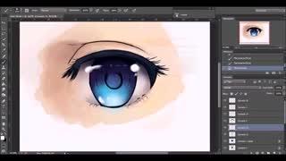 نقاشی حرفه ای چشم انیمه ای [هنر دیجیتال] Anime Eye drawing coloring-Speedpaint