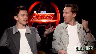 مصاحبه با  Benedict Cumberbatch و Tom Holland بازیگران فیلم Avengers: Infinity War