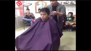 عجب اتفاقی تو آرایشگاه افتاد !