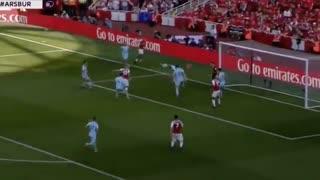 خلاصه بازی آرسنال 5 - 0 برنلی (آخرین بازی ونگر در امارات)