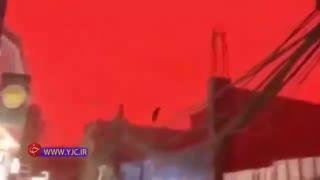 وقوع پدیدهای عجیب در عراق موجب تغییر رنگ ناگهانی آسمان شد