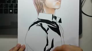 Death note drawing yagami light