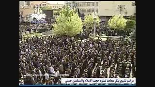اقامه نماز میت بر پیکر مطهر مرحوم حجت الاسلام والمسلمین حسنی