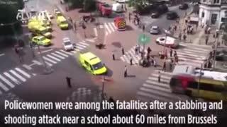 حمله تروریستی در بلژیک به سبک فیلمهای اکشن | ۲ پلیس زن کشته شدند