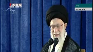 فیلم کامل بیانات رهبر انقلاب در مراسم ارتحال امام خمینی (ره)