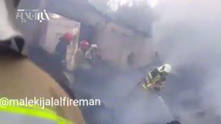 آتشسوزی مهیب در کارگاه ۸۰۰متری مبل
