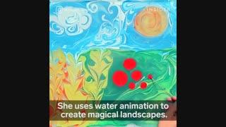 نقاشی روی آب Angelina Zolotaya