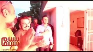 جشن تولد امین حیایی در پشت صحنه سریال «ساخت ایران ۲»