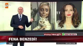 سحر تبر حتی توی تلویزیون ترکیه هم معروف شد با قیافه ترسناکش