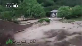 لحظه هولناک جاری شدن سیل در گیلان | ۳ نفر کشته شدند