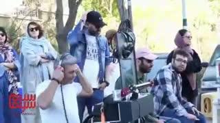 کیمیا علیزاده در پشت صحنه فیلم سونامی